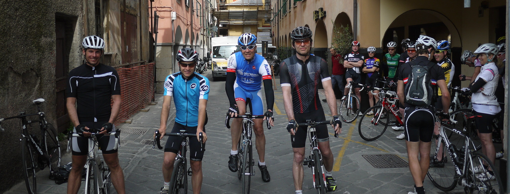Ready to set off in Chiavari.