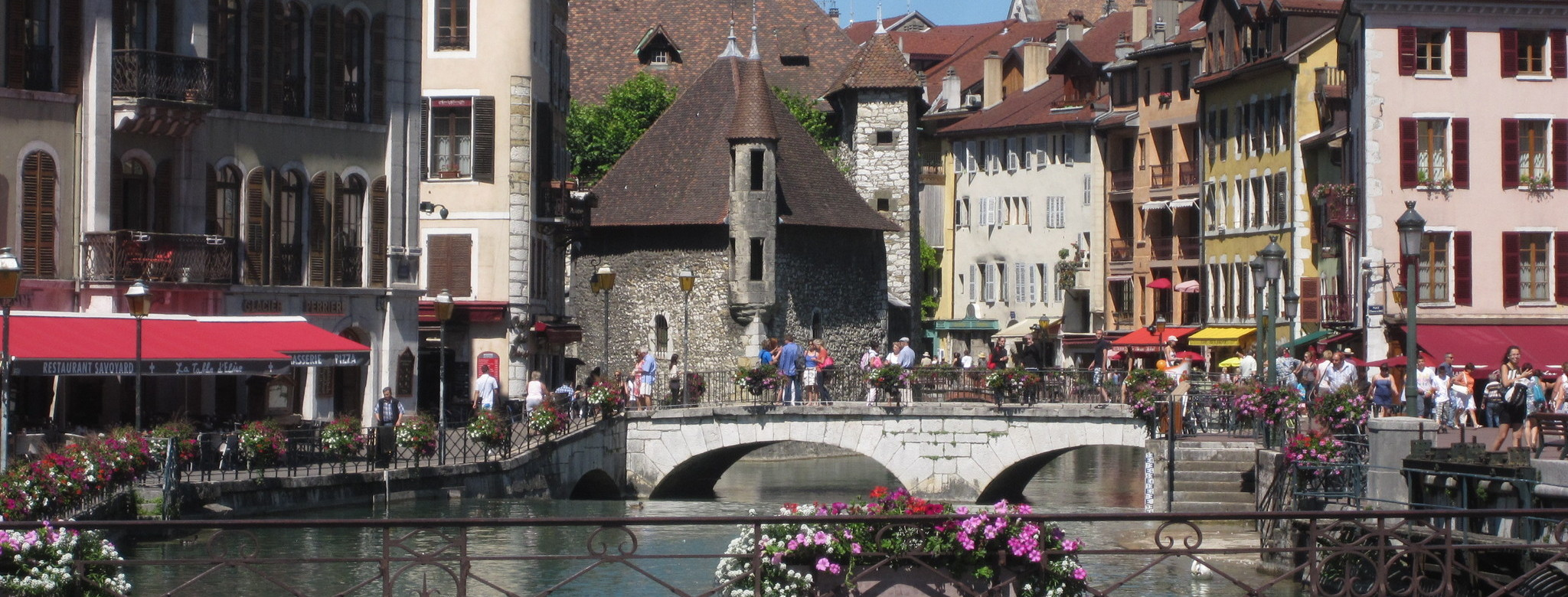 Canals in Annecy old town.