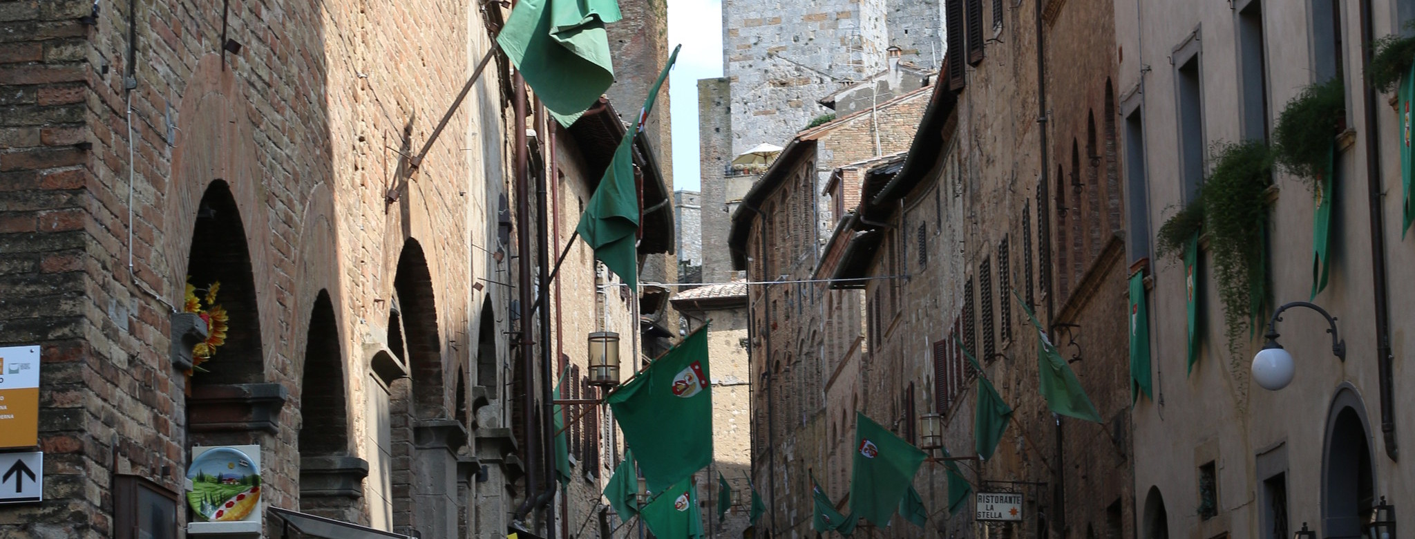 Alleyways in San Gimignano.