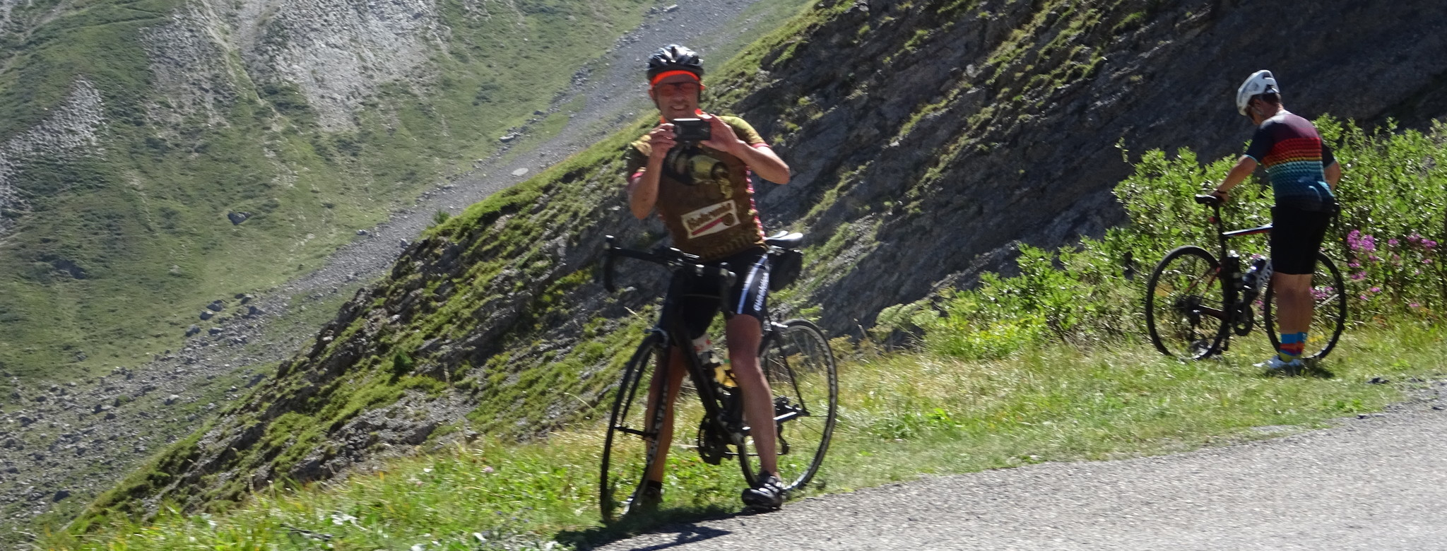 Photo opp on the Galibier
