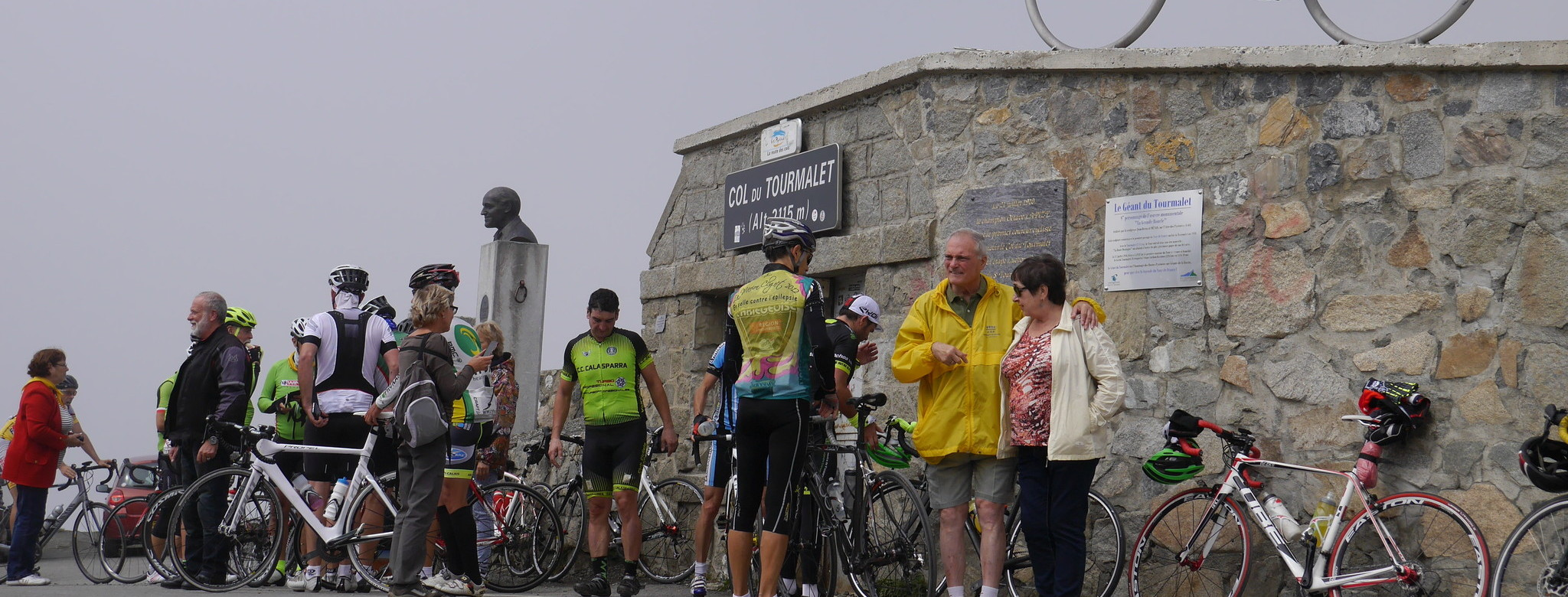 On the Tourmalet.