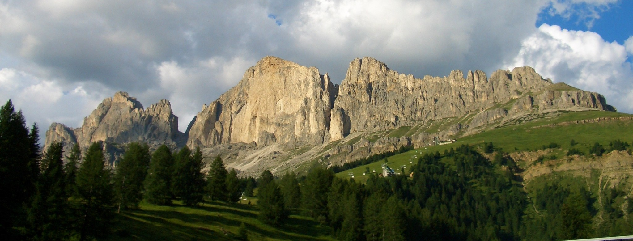 Dolomites panorama from the Karer Pass.